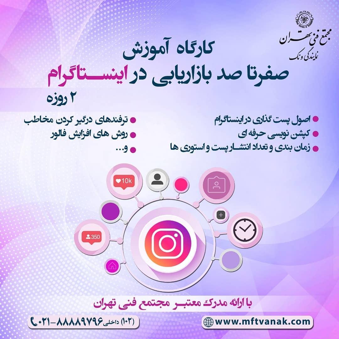 کلاس آموزش و یادگیری مدیریت بازاریابی دیجیتال در مجتمع فنی تهران